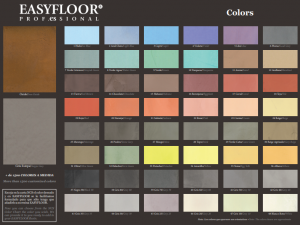 Colores del microcemento